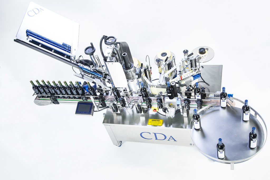 R1000 1500 range, CDA's automatic bottle labelling machine