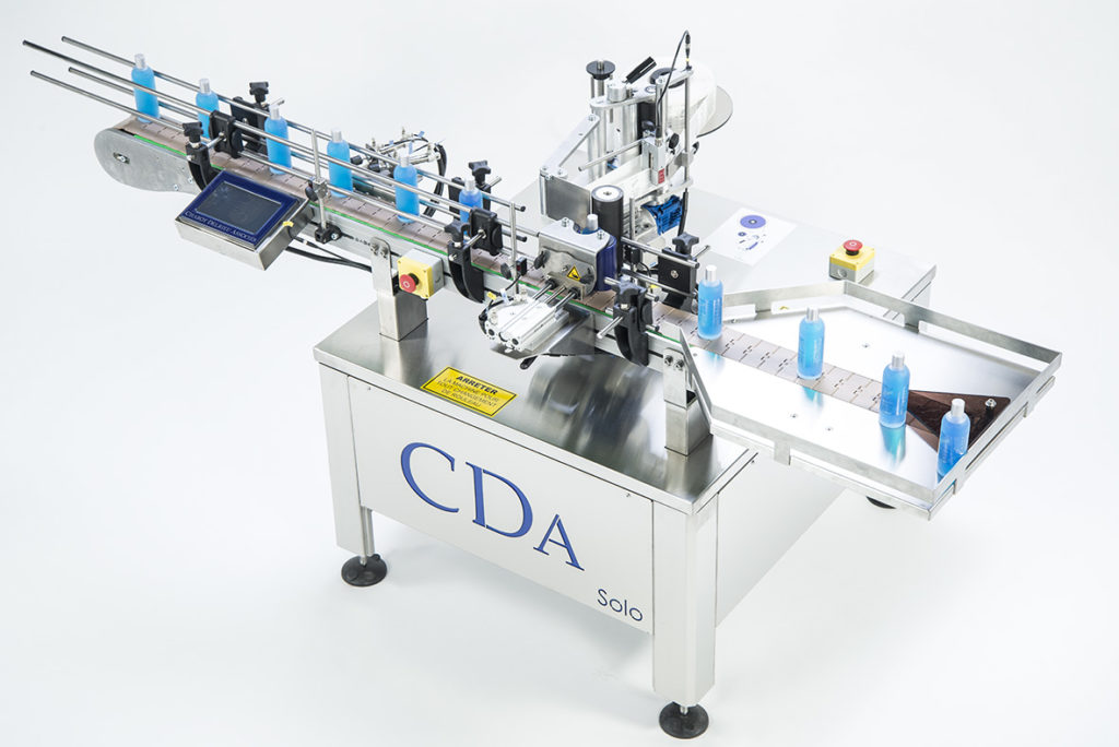 solo range, CDA's automatic bottle labelling machine