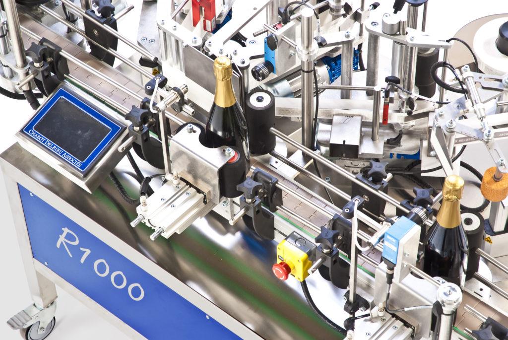 R1000 Verschlüsse, automatische CDA-Etikettiermaschine für Champagnerflaschen