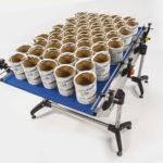 Table chargement tapis remplisseuse etiqueteuse
