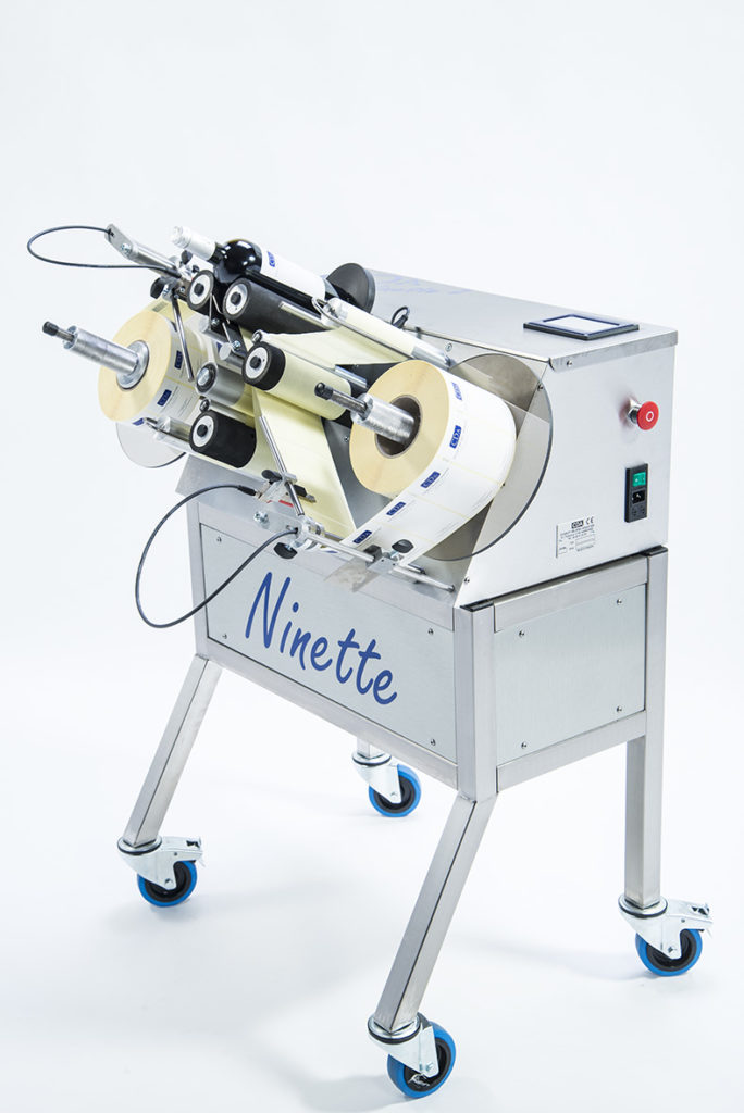 ninette 2 CDA multi-purpose semi-automatic labelling machine
