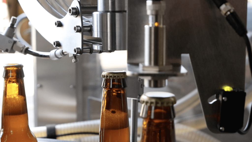 B-Hop automatic filling and capping of beer bottles CDA